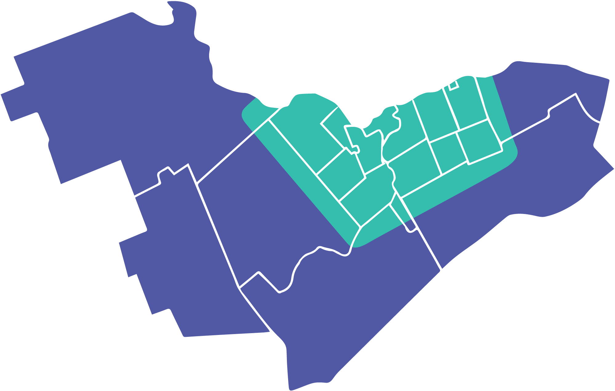 Carte des zones desservies à Ottawa