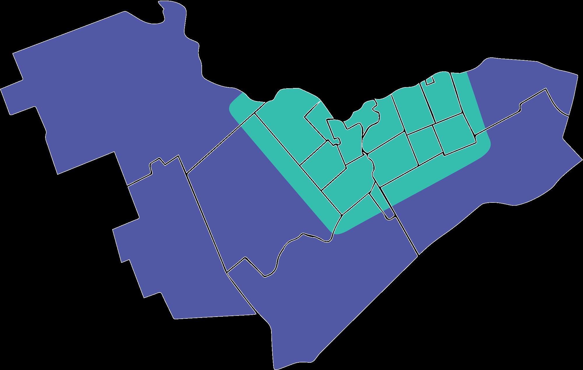 Carte des zones desservies à Ottawa