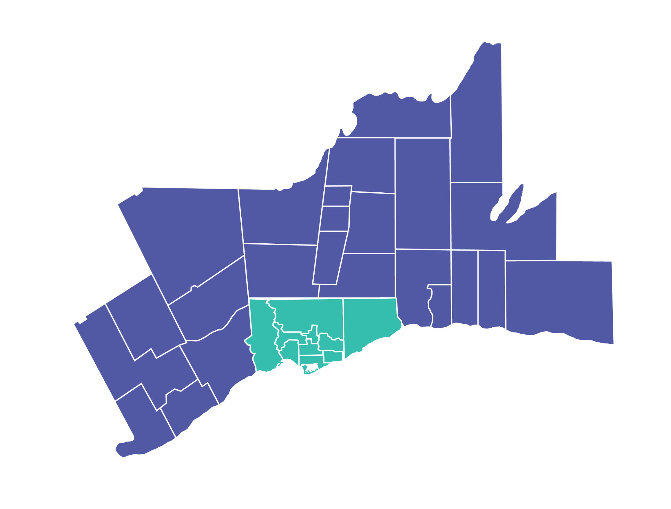 Area served in Toronto