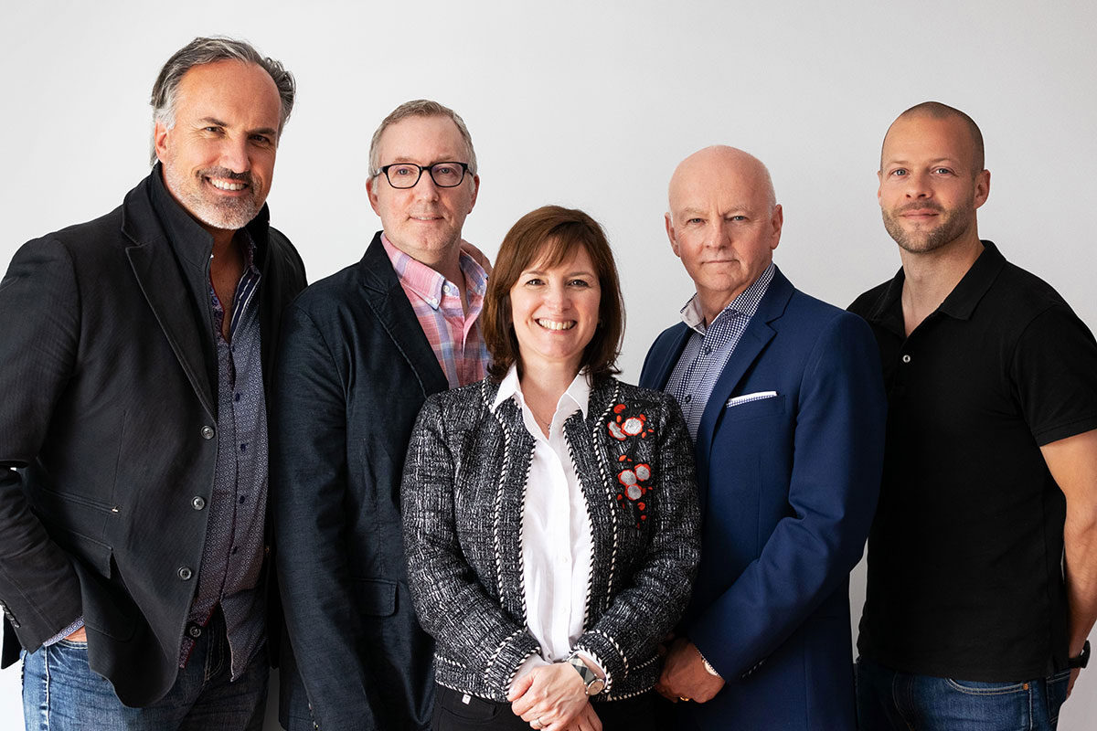 Alain Cloutier, Claude Riopel, Julie Bergevin, Gaétan Migneault and Charles Gagnon